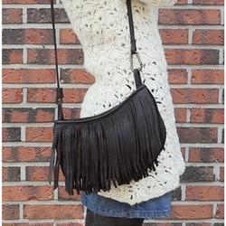 Túi đeo chéo nữ phối tua rua trẻ trung nữ tính phong cách hàn quốc