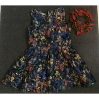 Đầm xoè hoa bướm hàng nhập