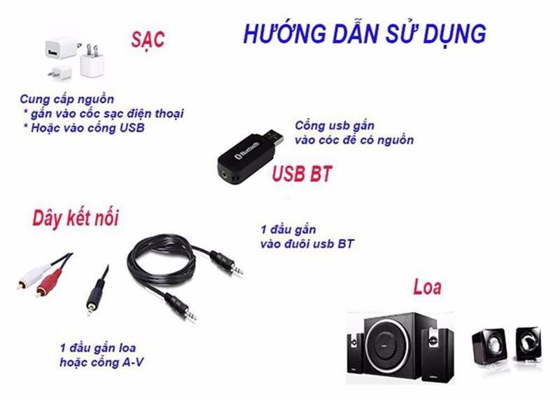 USB Bluetooth BT163 Biến Loa Thường Thành Loa Bluetooth 8