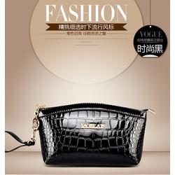 Túi cầm tay nữ thời trang dập nổi vân da cá sấu lạ mắt-T307