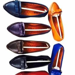 Giày mọi nữ công sở đính nơ sành điệu sang trọng GM117