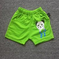 Quần thun ngắn hình gấu Panda màu xanh lá NX182