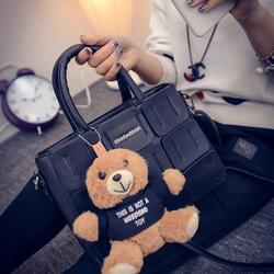 Túi xách da thời trang cao cấp gấu bông xinh xắn
