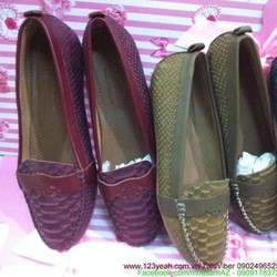 Giày mọi nữ công sở cá sấu sang trọng đẹp tự tin GM105
