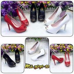 giày nữ, thiết kế gót nhọn, chất liệu da PU mềm đi êm chân vg118