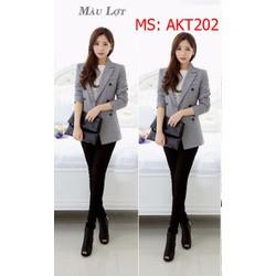 AKT202 Áo khoác vest form dài cực tôn dáng và phong cách