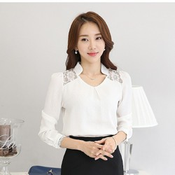 áo sơ mi trắng cách điệu tinh tế TB0180