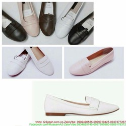 Giày mọi nữ khóa da thiết kế đơn giản sang trọng GM116