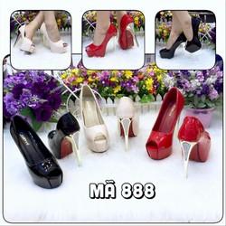 giày nữ, chất liệu da  thiết kế gót kiểu phong cách trẻ trung vg119