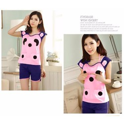 Bộ đồ short mặc nhà gấu panda xinh xắn dtt07073