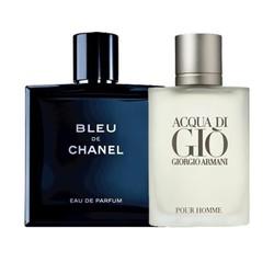 Combo 2 chai Nước hoa Nam Bleu de Chanel và Gio Pour Homme