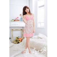 Đầm ngủ đẹp voan thun hoa phối ren Cao Cấp