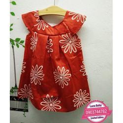 Đầm cánh tiên hoa cúc cam xinh