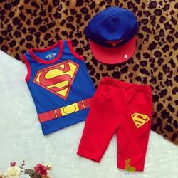 Bộ đồ Superman kèm nón kết