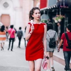 Đầm Suông Đính Nơ Dễ Thương Như Ngọc Trinh X2703
