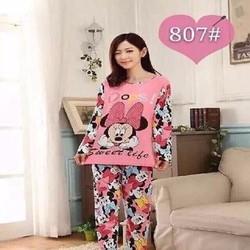Đồ bộ mặc nhà dài tai phối quần in hình chuột mickey NN362