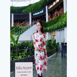 Sét áo dài cách tân hoa hồng dễ thương và quần ôm xinh đẹp SQV132