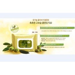 KHĂN GIẤY TẨY TRANG - INNISFREE OLIVE REAL CLEANSING TISSUE