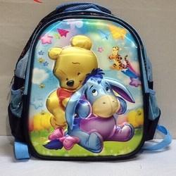 Balo học sinh hình gấu Pooh in nổi 5D