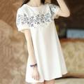 Đầm nữ ngắn tay thời trang dáng rộng chất liệu cao cấp