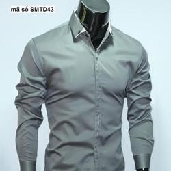 Áo sơ mi nam công sở tay dài phong cách Hàn Quốc lịch lãm SMTD43