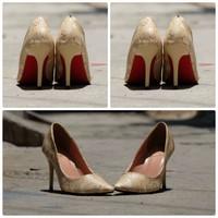 Giày cao gót vnxk họa tiết cực xinh