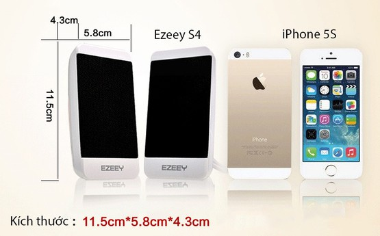 Loa vi tính EZEEY S4 kiểu dáng iPhone 1
