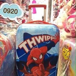 Valy du lịch kéo hình spider man cho bé trai đi du lịch VL161