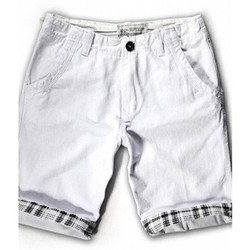 quan short kaki lai bẻ QS29 trắng