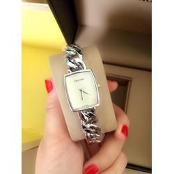 Đồng hồ nữ mặt vuông, dây xích cá tính