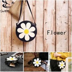 Túi đeo chéo nữ in họa tiết bông hoa