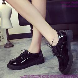 Giày oxford nữ da bóng phong cách tự tin năng động GUBB158