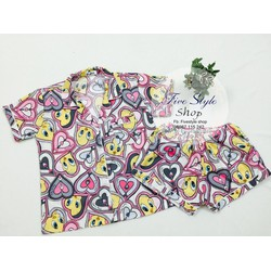Set bộ đồ ngủ hình hàng thiết kế! DNH24330