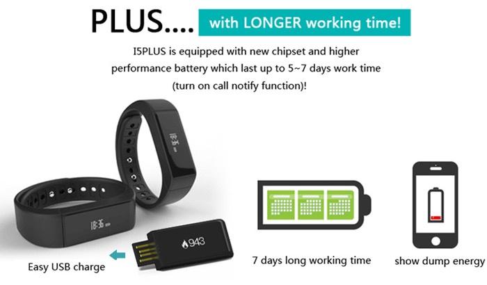 Vòng đeo tay thông minh I5 Plus iWOWN 10