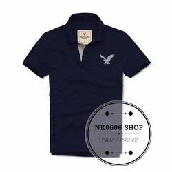 MaoMao - Áo Polo Nam Logo AMERICAN EAGLE - Màu Xanh Đen - AE2