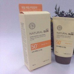 Kem chống nắng natural sun eco super perfect SPF 50 the faceshop