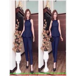 Sét áo kiểu yếm xòe phối quần dài xinh đẹp thời trang SDV161