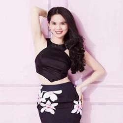 Sét áo kiểu yếm khoét vai và chân váy ôm hoa xinh đẹp SEV345