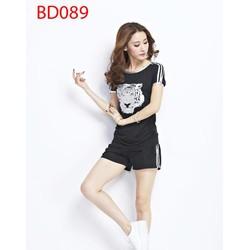BD089 Bộ đồ thể thao quần short cọp ngắn mùa hè