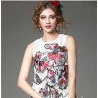 Hàng nhập - Đầm suông vải ô họa tiết KL08616