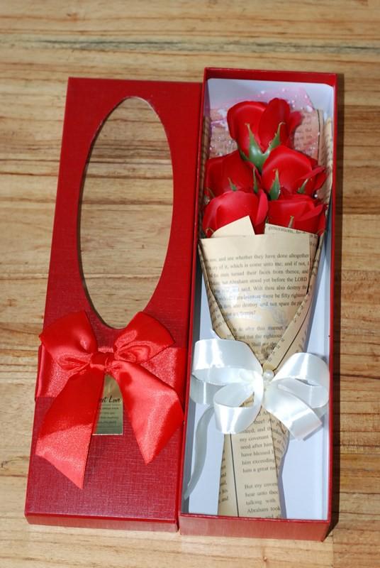 hộp hoa hồng sáp 5 bông vĩnh cửu 4