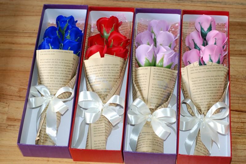 hộp hoa hồng sáp 5 bông vĩnh cửu 5