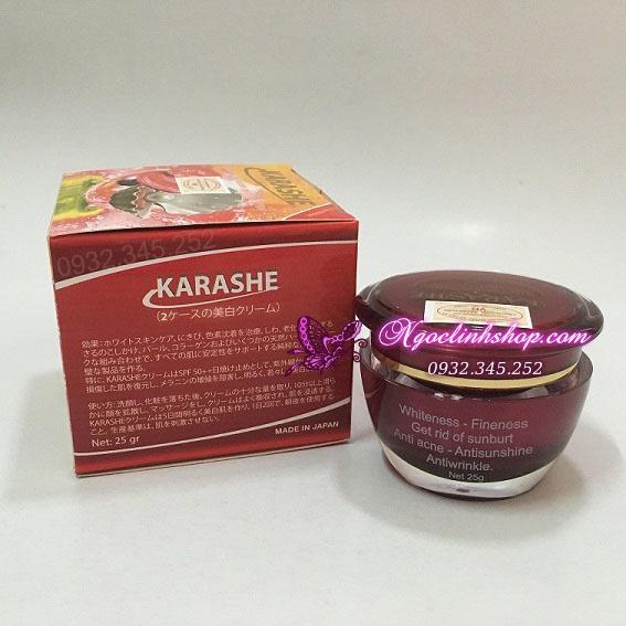Kem dưỡng trắng da KARASHE Linh Chi, Ngọc Trai, Collagen SPF50 ++ 3