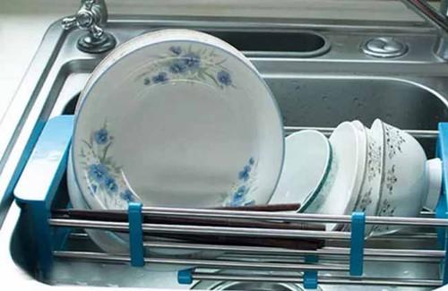 Khay bồn rửa chén inox kéo giãn 3