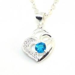 dây và mặt dây chuyền bạc ý hình trái tim dmd020s