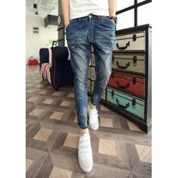 Mã số 51007 - Quần jeans vẩy sơn cá tính