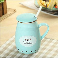 Vintage Milk Cup Xanh A