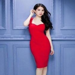 Đầm body 2 dây cúp ngực xinh đẹp như Ngọc trinh DOV748