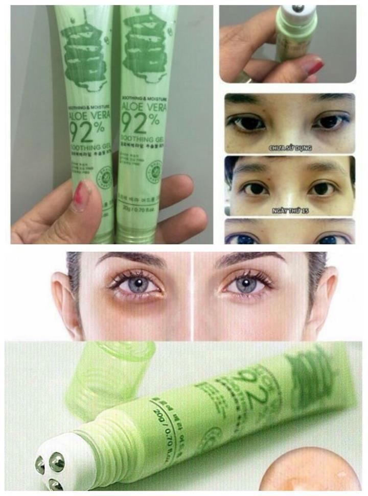Lăn trị thâm quầng mắt Lô Hội Aloe Vera 92 6