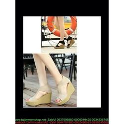 Giày cao gót nữ thiết kế mới hở mũi khoét 2 bên kiểu đế xuồng GCN239